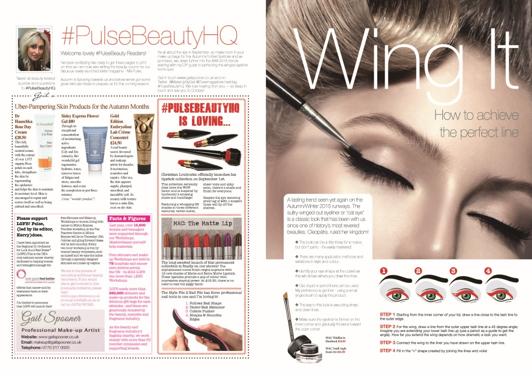Enjoy my September Makeup Beauty Column for MK Pulse